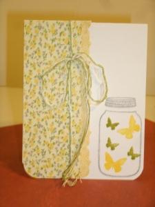 Butterfly in a Jar Card