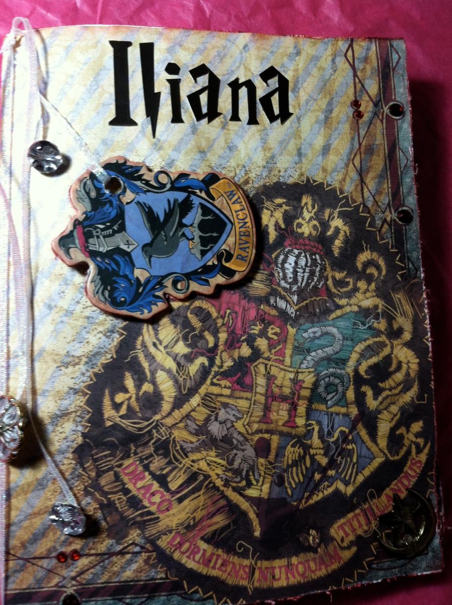 harry potter themed art journal