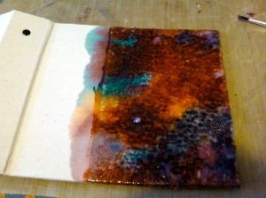 Distress Ink Covered Rock Candy