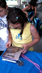 Iliana with her Harry Potter Themed Art Journal.