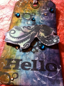 Creating An Ocean Feel: A Cephalopod Tag Tutorial KittyCandy Paper Crafts