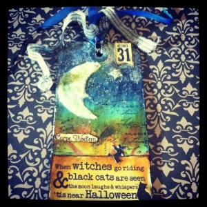This is my Tim Holtz inspired Tag of October.