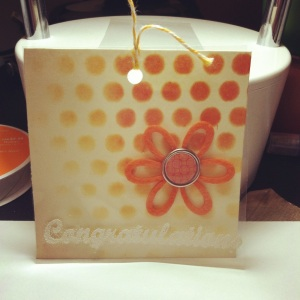 Congradulations Stenciled Card