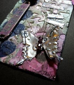 Metal butterfly with Shivorski Crystals